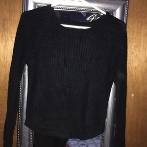 forever 21 comfy knit black sweater